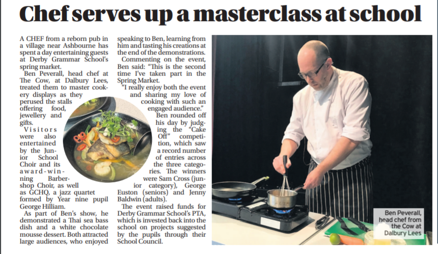 THE COW HEAD CHEF – MASTERCLASS